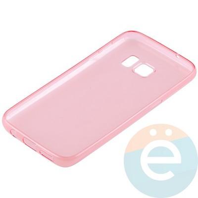 Накладка силиконовая ультратонкая на Samsung Galaxy S7 прозрачно-красная - фото 11041