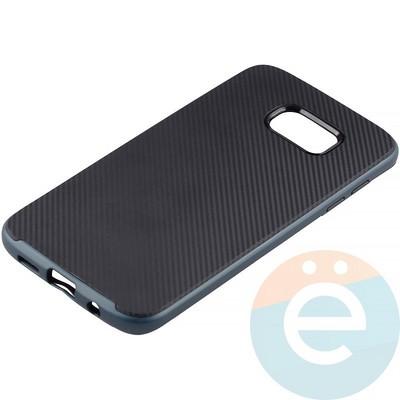 Накладка комбинированная Spigen на Samsung Galaxy S7 Edge синяя - фото 11253