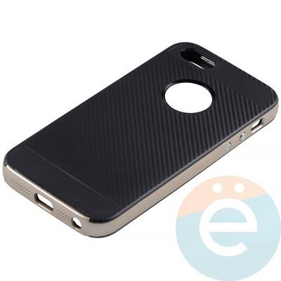 Накладка комбинированная Spigen на Apple iPhone 5/5s/SE золотистая - фото 11285