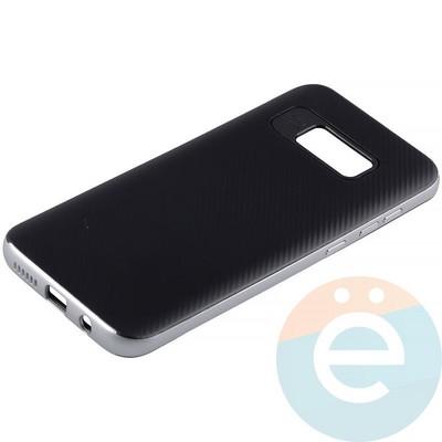 Накладка комбинированная Spigen на Samsung Galaxy S8 Plus серебристая - фото 11306