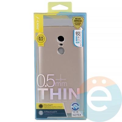 Накладка силиконовая j-Case на Xiаomi Redmi Note 4 золотистая - фото 11901
