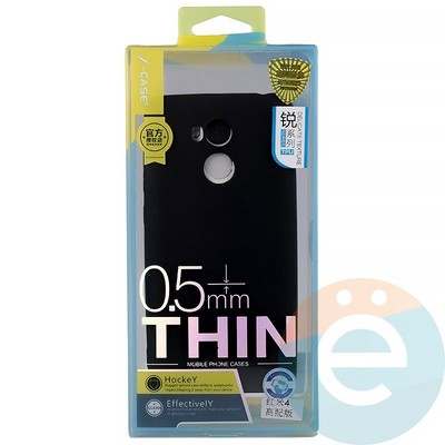 Накладка силиконовая j-Case на Xiаomi Redmi 4 чёрная - фото 11907