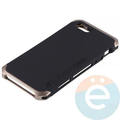 Накладка противоударная Element Case на Apple iPhone 5/5s/SE чёрно-золотистая - фото 12060