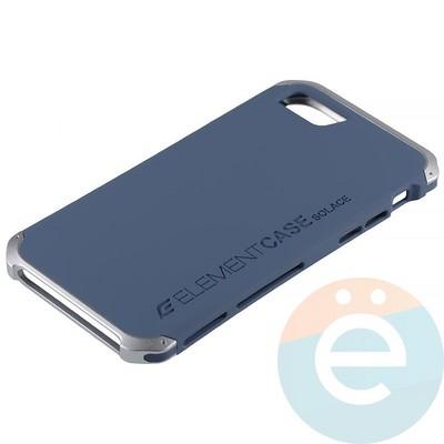 Накладка противоударная Element Case на Apple iPhone 7/8 сине-серебристая - фото 12061