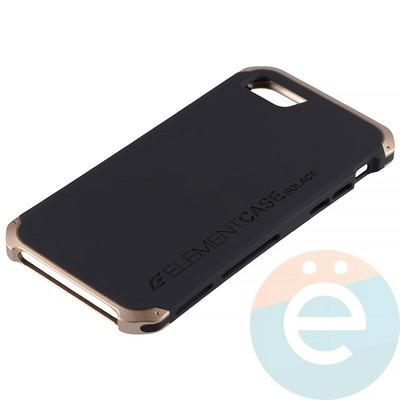 Накладка противоударная Element Case на Apple iPhone 7/8 чёрно-золотистая - фото 12066