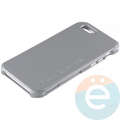 Накладка противоударная Element Case на Apple iPhone 6/6s серебристая - фото 12068