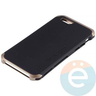 Накладка противоударная Element Case на Apple iPhone 6/6s чёрно-золотистая - фото 12069