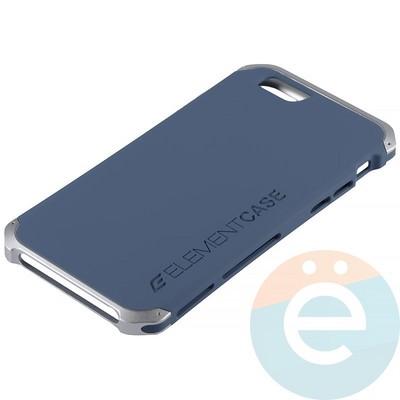 Накладка противоударная Element Case на Apple iPhone 6/6s сине-серебристая - фото 12070