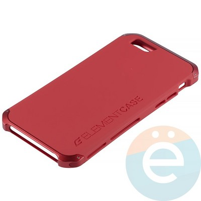 Накладка противоударная Element Case на Apple iPhone 6/6s красная - фото 12074