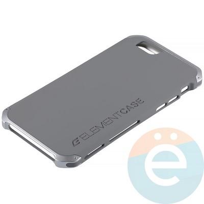 Накладка противоударная Element Case на Apple iPhone 6/6s серая - фото 12075