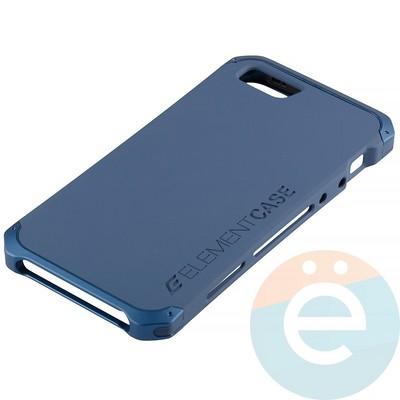 Накладка противоударная Element Case на Apple iPhone 5/5s/SE синяя - фото 12077