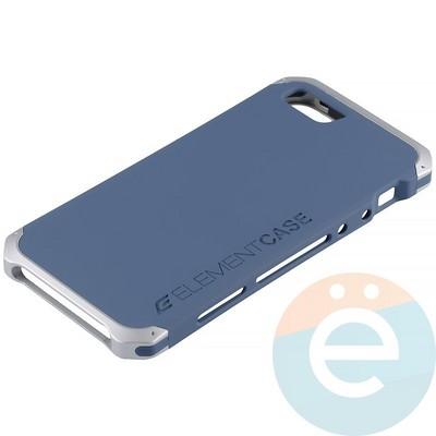 Накладка противоударная Element Case на Apple iPhone 5/5s/SE сине-серебристая - фото 12078