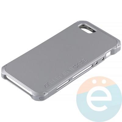 Накладка противоударная Element Case на Apple iPhone 5/5s/SE серебристая - фото 12080