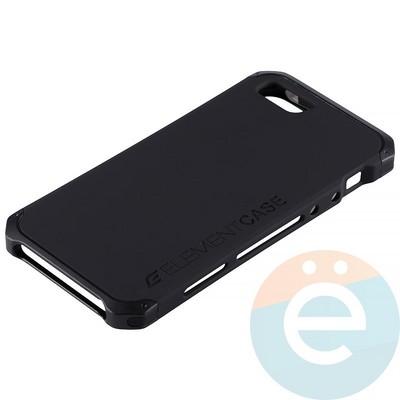 Накладка противоударная Element Case на Apple iPhone 5/5s/SE чёрная - фото 12079