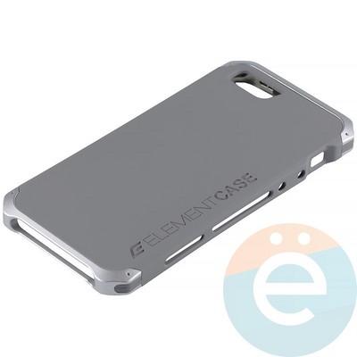 Накладка противоударная Element Case на Apple iPhone 5/5s/SE серая - фото 12081