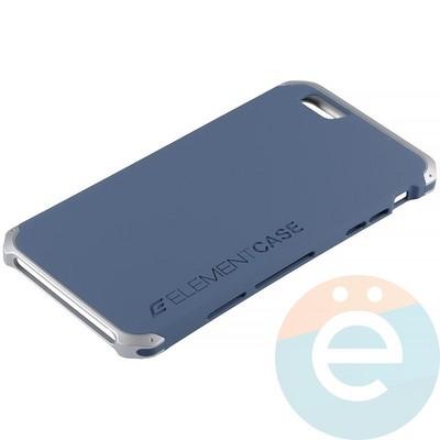 Накладка противоударная Element Case на Apple iPhone 6 Plus/6s Plus сине-серебристая - фото 12083