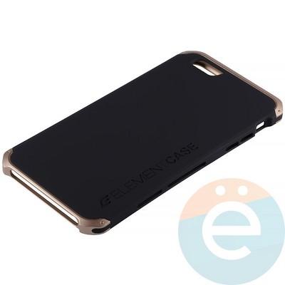 Накладка противоударная Element Case на Apple iPhone 6 Plus/6s Plus чёрно-золотистая - фото 12608