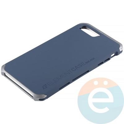 Накладка противоударная Element Case на Apple iPhone 7 Plus/8 Plus сине-серебристая - фото 12101