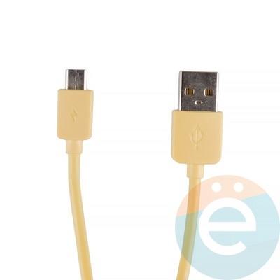 USB кабель Remax RC-06m на Micro-USB жёлтый - фото 12273