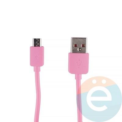 USB кабель Remax RC-06m на Micro-USB розовый - фото 12276