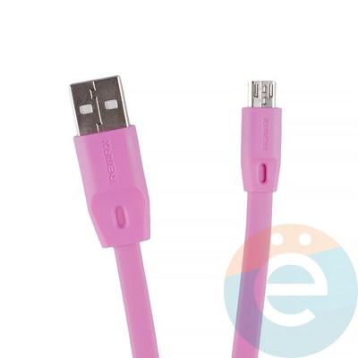 USB кабель Remax Full Speed RC-001m на Micro-USB 2м розовый - фото 12282