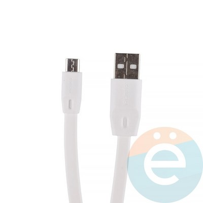 USB кабель Remax Full Speed RC-001m на Micro-USB 2м белый - фото 12284