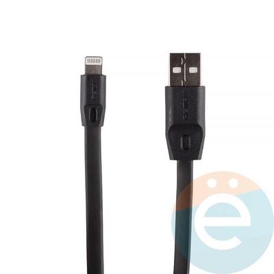 USB кабель Remax Full Speed RC-001i на Lightning 1м чёрный - фото 12286