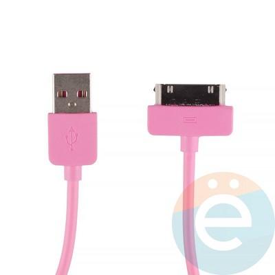 USB кабель Remax RC-06i4 для Apple iPhone 4/4s, iPad 2/3 розовый - фото 12353