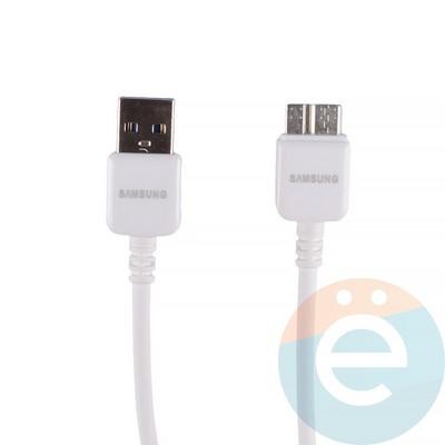 USB кабель для Samsung Galaxy Note 3 (категория 1) белый - фото 12287