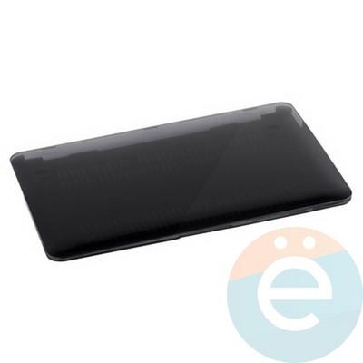 """Накладка на MacBook Pro 13.3"""" пластиковая глянцевая чёрная - фото 16530"""