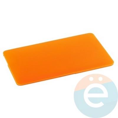 "Накладка на MacBook Pro 15.4"" Touch Bar (1707) пластиковая матовая оранжевая - фото 16315"