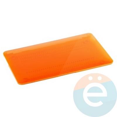 """Накладка на MacBook Air 13.3"""" пластиковая глянцевая оранжевая - фото 15699"""