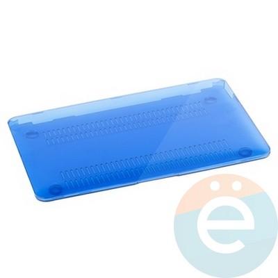"Накладка на MacBook Pro 15.4"" Touch Bar (1707) пластиковая глянцевая синяя - фото 16550"