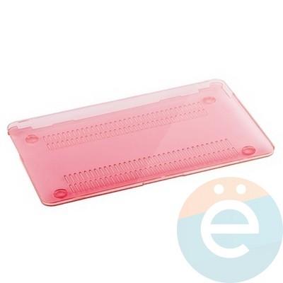 """Накладка на MacBook Pro 15.4"""" Touch Bar (1707) пластиковая глянцевая розовая - фото 16556"""