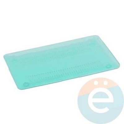 "Накладка на MacBook Pro 13.3"" Touch Bar (1706/1708) пластиковая глянцевая светло-бирюзовая - фото 14536"