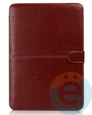 """Чехол-книжка кожаный на MacBook Pro 15.4"""" коричневый - фото 14831"""