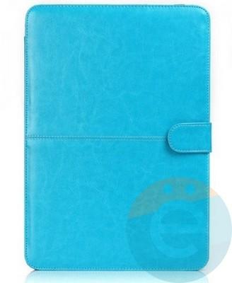"""Чехол-книжка кожаный на MacBook Pro 13.3"""" (A1706/A1708) голубой - фото 14865"""