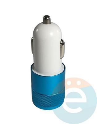 АЗУ Nokoko 2xUSB универсальное 1/2.1амп (металл) синее - фото 15822