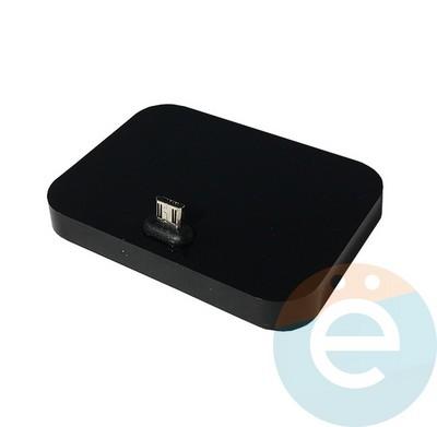 Докстанция для смартфонов Micro-USB чёрная - фото 15872