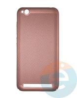 Накладка пластиковая перфорированная на Xiaomi Redmi 5A розовая
