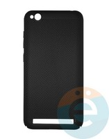 Накладка пластиковая перфорированная на Xiaomi Redmi 5A чёрная