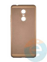 Накладка пластиковая перфорированная на Xiaomi Redmi 5 золотистая
