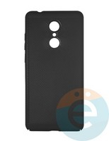Накладка пластиковая перфорированная на Xiaomi Redmi 5 чёрная