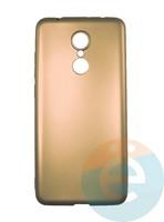 Накладка силиконовая j-Case на Xiаomi Redmi 5 золотистая