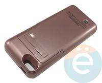 Накладной аккумулятор 3200 mAh на Apple iPhone 5 оранжевый