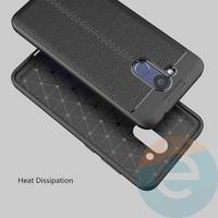 Накладка силиконовая 360 с кожаными вставками на Huawei Honor 10 чёрная