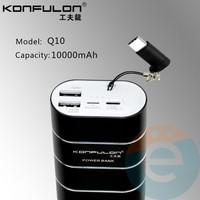 Внешний аккумулятор Konfulon Q10 10000 mAh чёрный
