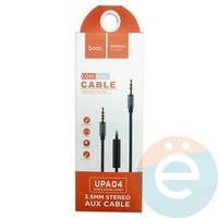AUX Кабель Hoco UPA04 Audio Cable 3.5mm с микрофоном чёрный