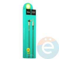 AUX Кабель Hoco UPA02 Audio Cable 3.5mm с микрофоном 1М чёрный