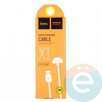Usb Кабель HOCO X1 Rapid chargig на 30 Pin для iPhone 4/4s 1М белый